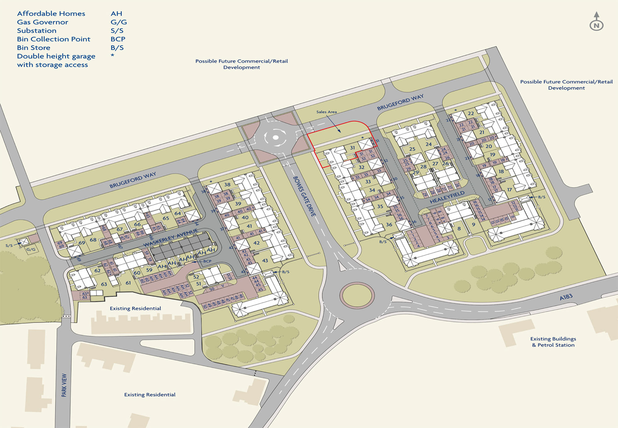 Lambton Park - Site Map